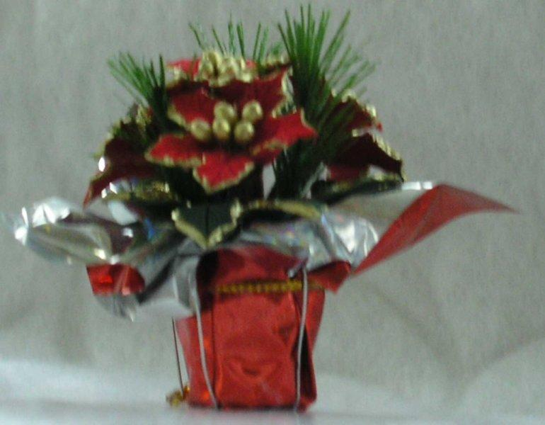 "Poinsettia Table 1 1/2"" - Red"