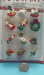 12 pc mini Ornament Set