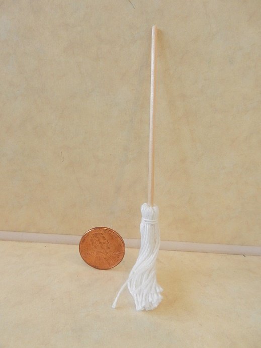 String Mop with Wood Handle