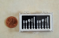 White Flatware, 10 pcs