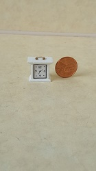 "1/2"" scale Mantel Clock - White"