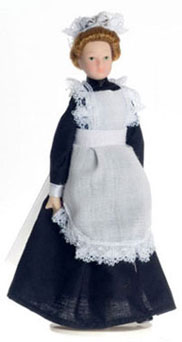 Maid in dress with white apron