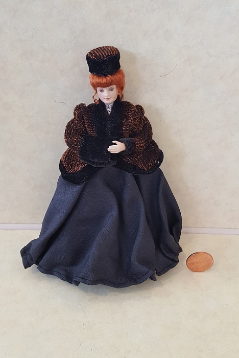 Porcelain Winter Lady German do