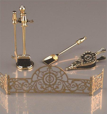 Fireplace Tools & Fender Set