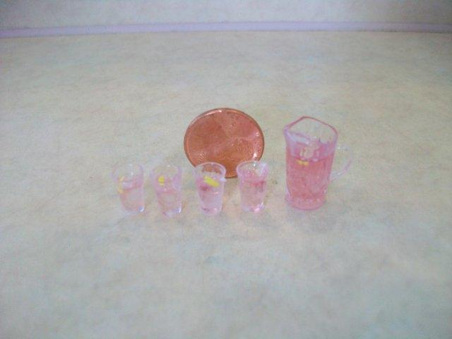 Pink Lemonade Set Pitcher w/Gla