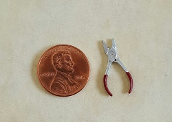 Pliers, Needle Nose, Chrome/Red