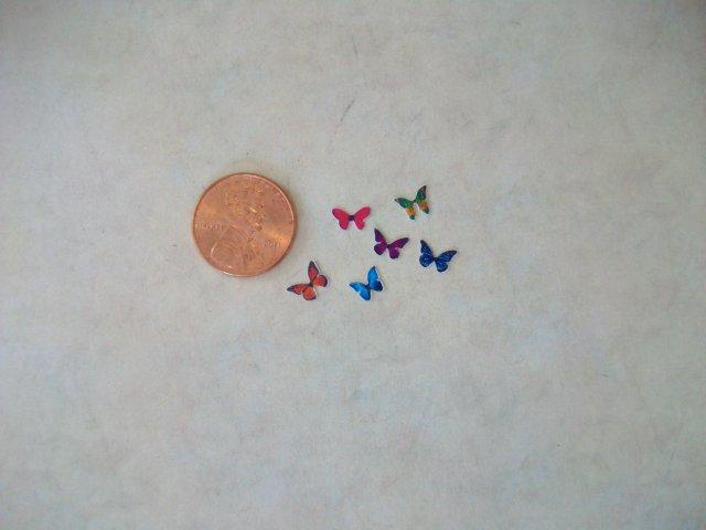 Butterflies - 6 assorted colors
