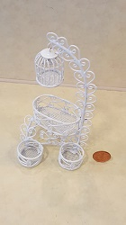 White Bird Rack w/2 Flower Pot