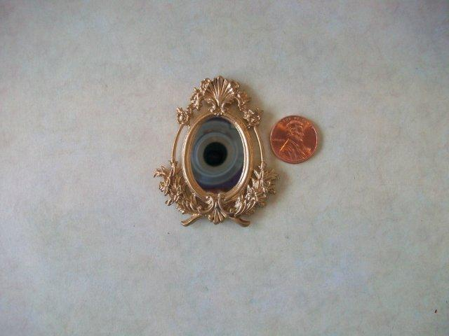 Mirror, Oval w/Shell, Gold Colo