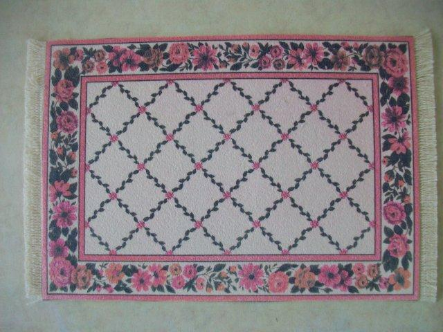 Rose with Trellis Rug - Med.