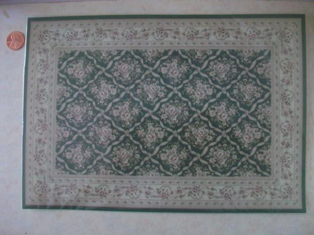 Traditional Rug Large Green/Flo