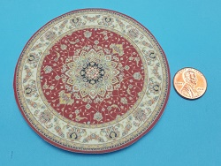 TEC Small Rug Round Red 3-1/2""