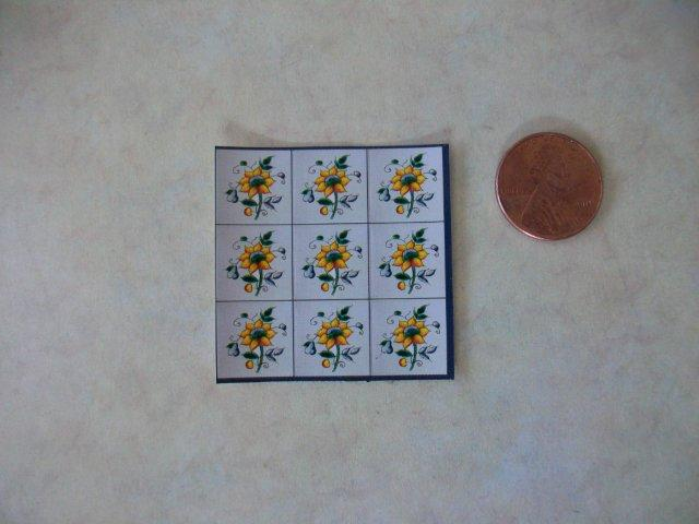 Wall Mosaic - Sunflower Tile