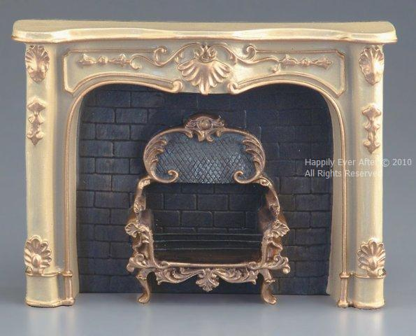 Cream Fireplace Unit