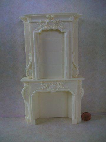 Fireplace - White stone