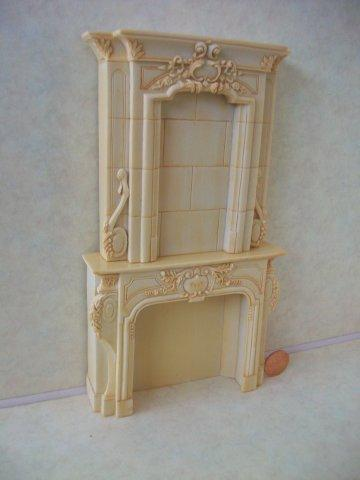 Fireplace, Ivory w/Stone Over Ma