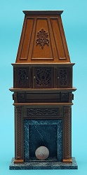 Fireplace w/compartments