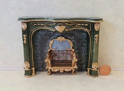 Green Fireplace Unit