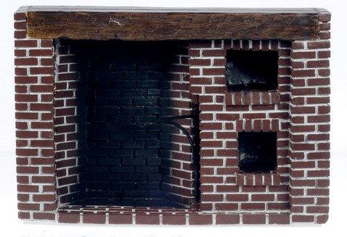 Colonial Walk-in Fireplace