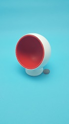 Ball Chair - Red/White