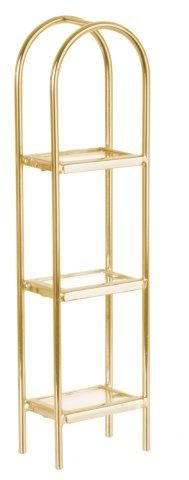 Brass/Glass Etagere Curved