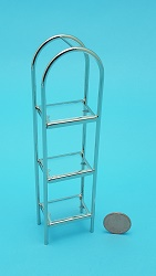 Crome/Glass Etagere