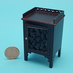Pierced Chairside Cabinet - Mah