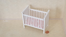 Slatted Nursery Crib, White