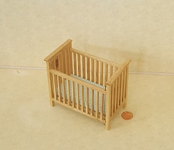 Slatted Nursery Crib, Oak