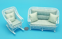 2pc -Seafoam Grn Couch & Rocker