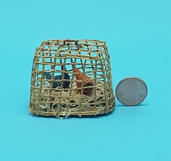 Chickens in Basket Crates